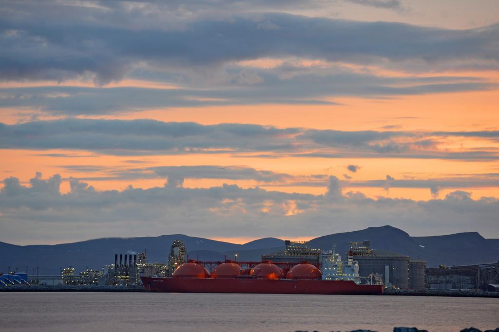 Statoils anlegg i Hammerfest ved Snøhvitfeltet. Foto: Harald Pettersen - Statoil ASA
